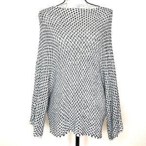 Zara Knit Dolman Sleeve Pullover Sweater